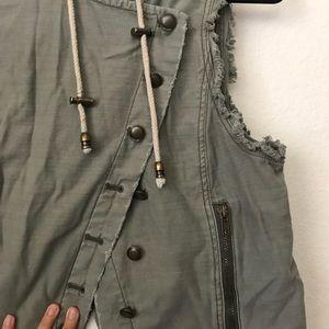 Free People Jackets & Coats - Free People hoodie Vest